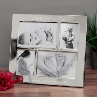 First Father's Day Engraved Collage Photo Frame Product Image