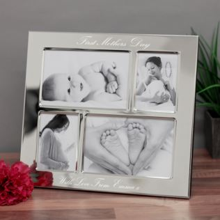 First Mother's Day - Engraved Collage Photo Frame Product Image