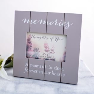 Thoughts Of You Wood Effect Photo Frame - Memories Product Image