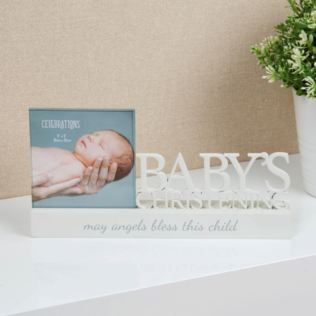 Baby's Christening Celebrations Photo Frame Product Image