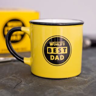 World's Best Dad Yellow Stoneware Mug Product Image