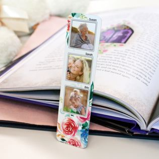 Personalised 3 Generations Photo Upload Bookmark Product Image