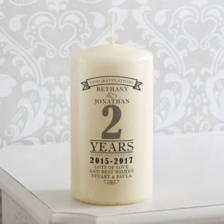 Personalised Anniversary Candle Product Image
