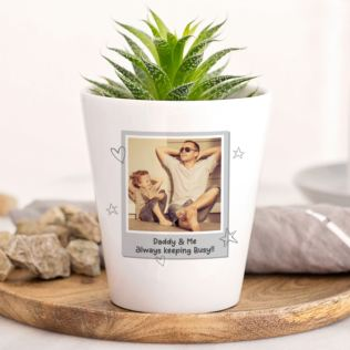 Personalised Photo Upload Plant Pot Product Image