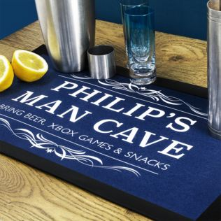 Personalised Gentlemen's Man Cave Bar Mat Product Image
