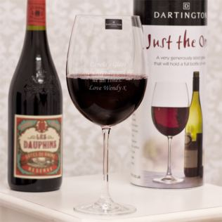 Personalised Dartington Just The One Giant Wine Glass Product Image