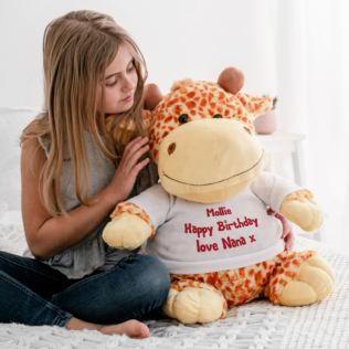 Extra Large Personalised Giraffe Soft Toy Product Image