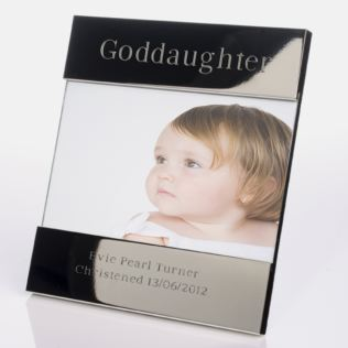 Engraved Goddaughter Photo Frame Product Image