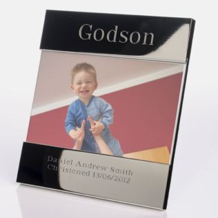 Engraved Godson Photo Frame Product Image