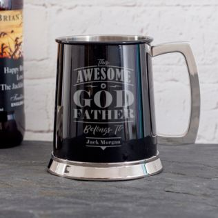 Personalised Godfather Black Beer Tankard Product Image