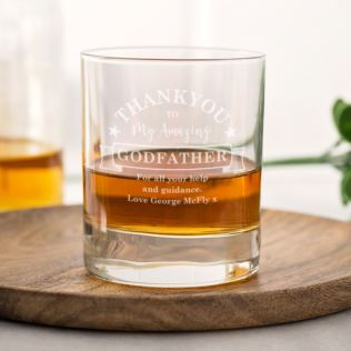 Personalised Godfather Whisky Glass Product Image