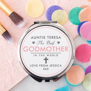 Personalised Godmother Compact Mirror Product Image