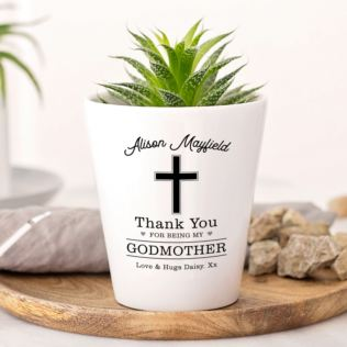 Personalised Godmother Plant Pot Product Image