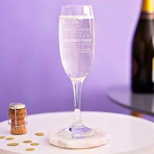 Personalised Godmother Prosecco Glass Product Image