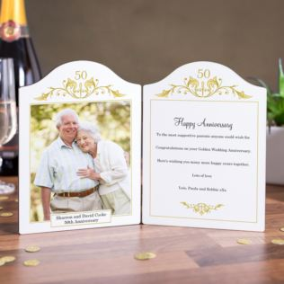 Golden Anniversary Photo Message Plaque Product Image