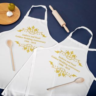 Personalised Golden Anniversary Aprons Product Image