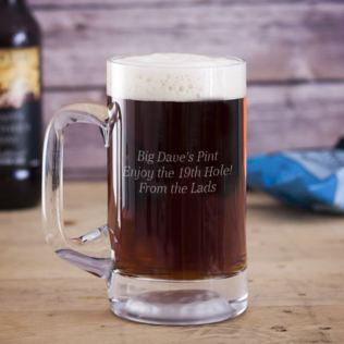 Personalised Golf Ball Pint Tankard Product Image