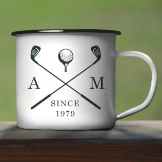 Personalised Golf Clubs Enamel Mug Product Image