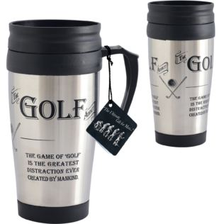 Golf Fan Thermos Travel Mug Product Image