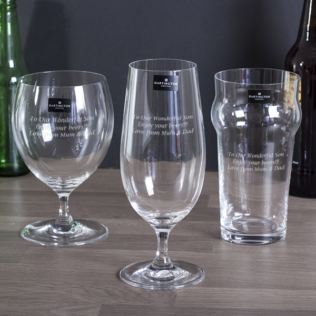 Dartington Three Cheers For Beers Personalised Glasses Set Product Image