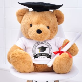 Large Graduation Bear With Personalised T-Shirt Product Image