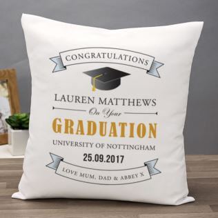 Personalised Graduation Cushion Product Image