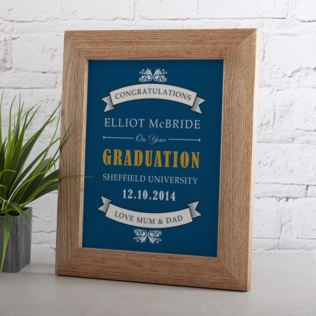 Personalised Graduation Framed Print Product Image