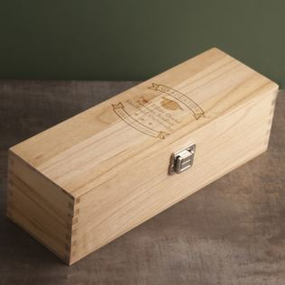 Personalised Graduation Wooden Wine Luxury Gift Box Product Image
