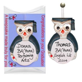 Personalised Graduation Owl Hanging Ornament Product Image