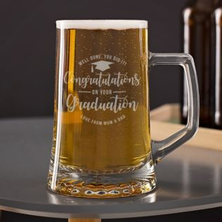 Personalised Graduation Pint Tankard Product Image