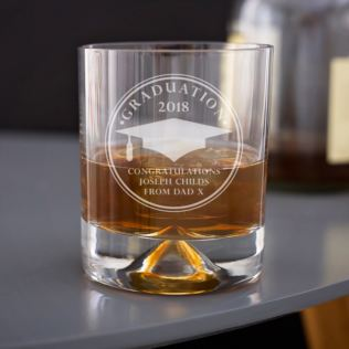 Personalised Graduation Whisky Tumbler Product Image