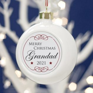 Personalised Grandad Christmas Bauble Product Image
