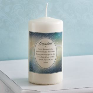 Personalised Birthday Wishes Grandad Candle Product Image