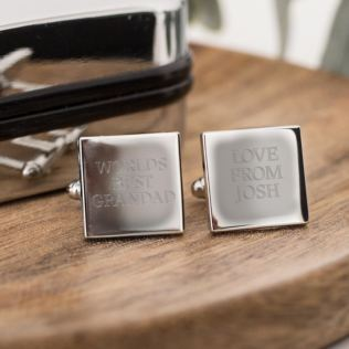 Personalised Worlds Best Grandad Cufflinks Product Image