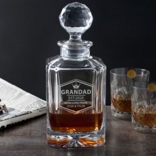 Engraved Grandad Square Crystal Decanter Product Image