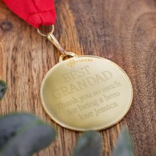 Personalised Best Grandad Medal Product Image