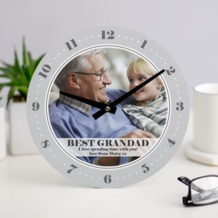 Personalised Photo Upload Grandad Clock Product Image