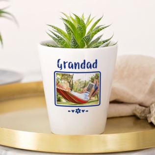 Personalised Grandad Photo Plant Pot Product Image