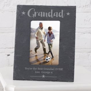 Personalised Grandad Slate Photo Frame 6x4 Product Image