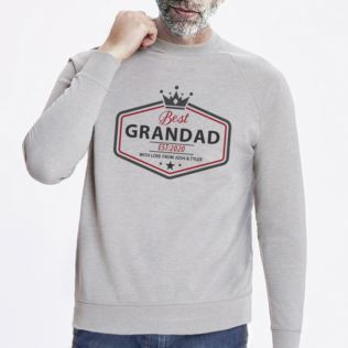 Personalised Grandad Grey Sweatshirt Product Image