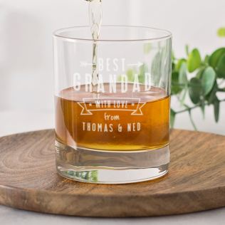 Personalised Grandad Whisky Glass Product Image