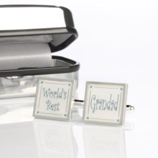 Worlds Best Grandad Cufflinks With Personalised Box Product Image
