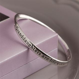 Granddaughter Bangle in Personalised Gift Box Product Image