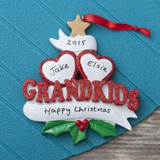 Personalised Two Grandkids Hanging Ornament Product Image