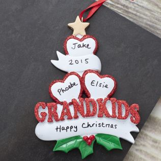 Personalised Three Grandkids Hanging Ornament Product Image