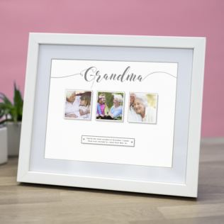 Personalised Grandma Multi Photo Upload Framed Print Product Image