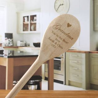 Grandma's Personalised Wooden Spoon Product Image