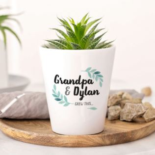 Grandpa & Me Grew This Personalised Plant Pot Product Image