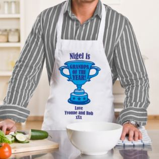 Grandpa of the Year Personalised Apron Product Image