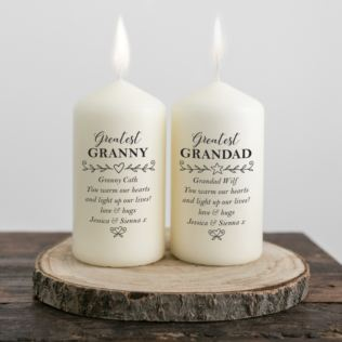 Personalised Pair Of Grandparents Candles Product Image